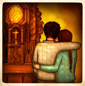 Ivan y Valeria en el Santuario de Schoenstatt